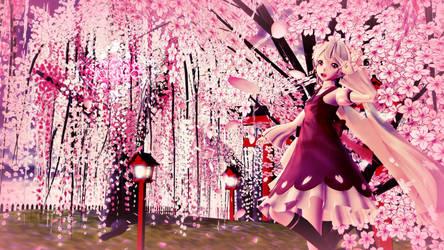 [MMD] Sakura -  wallpaper HD by LenMJPU