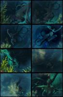 Underwater Scare (1/2) by bleinnie