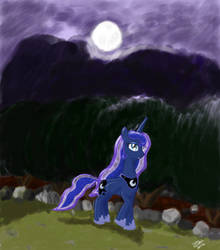 Luna's Night by ColorCoatedArt