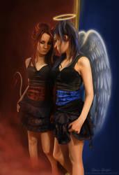 Angel and Demon by MonicaHooda