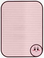Kirby Stationery by MrNintendoFan54729