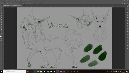 2019 Vicious Ref .WIP. by SenbreadScribbles