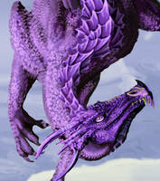 February - Amethyst Actual Size Detail by WindSeeker