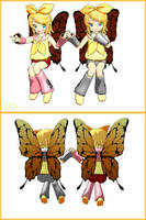 MMD Newcomer Chibi B. Rin x2 by XNikiKoX