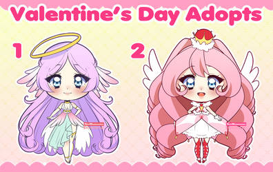 [Auction] Valentine's Day Adoptables by HeleMinimanimo