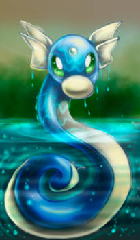 Dratini out of water by Neon-Lady