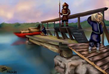 Small Dock of Rokugan by YoritomoDaishogun