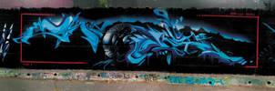 alien vs predator mural by ewil33