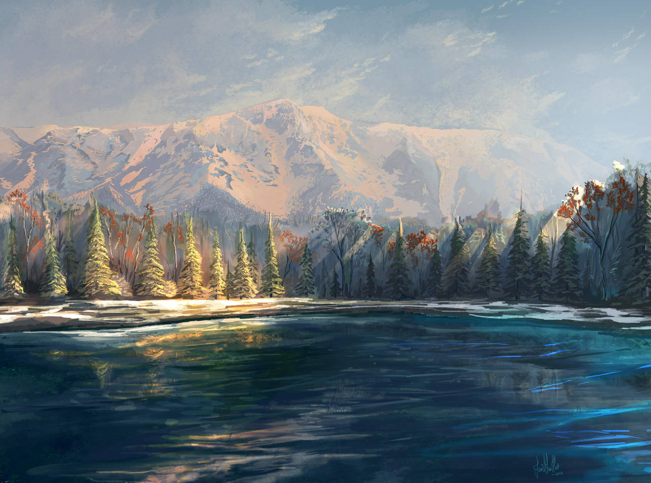 Lake Tahoe Mountain by chateaugrief