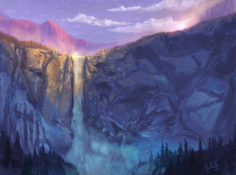 Bridalveil Fall 2 by chateaugrief