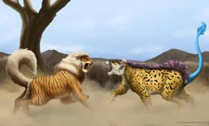 A wild pokemon battle has appeared! by TheSax66