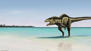 Acrocanthosaurus Beach by TheSax66