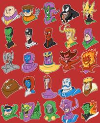 Marvel Villains by SilverCrab