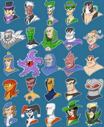 DC Villains by SilverCrab