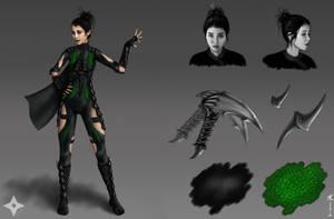 Character Concept-Tsuki Tashima by AKoukis