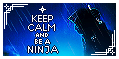 Ninja Keep Calm Stamp by AKoukis