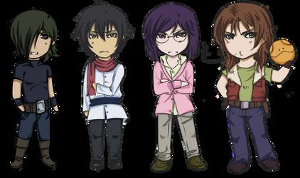 Gundam 00 Chibi by natasmai