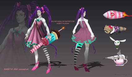 sweetie Jinx concept art by aku-no-hana2