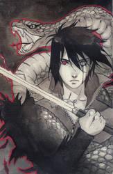 Poisonous Sasuke ink 1 by Ariru-chi