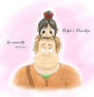 vanellope and ralph by summilly