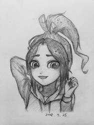 Pose practice Vanellope by summilly