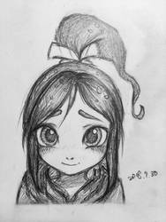 Vanellope blushing doodle by summilly
