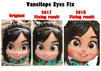 Vanellope Doll eyes fix comparison picture 2018 by summilly