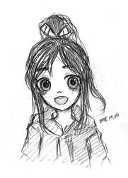 (re-upload) Vanellope sketch 2018 10 26 by summilly
