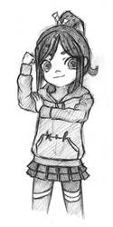 (re-upload) Vanellope age 9 by summilly