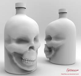 Skull Bottle Hightpoly Sculpt by Denuvyer