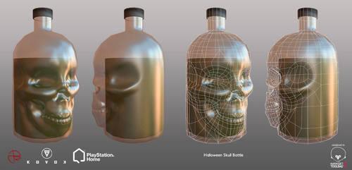 Halloween Skull Bottle - PSHome by Denuvyer