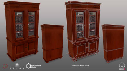 Halloween Wood Cabinet - PSHome by Denuvyer
