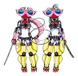 BnB: Tethered Twinmon by Midnitez-REMIX
