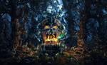 In the dark woods by AleksCG