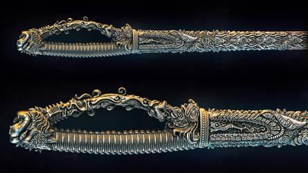 Indian sword by AleksCG