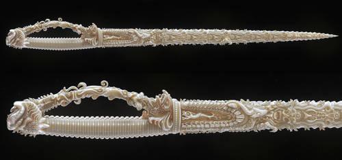 Indian sword/ Ivory by AleksCG