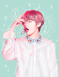 Pastel Taehyung from BTS by DragonsAnatomy
