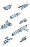Freighter Ships by Zando-Zennek