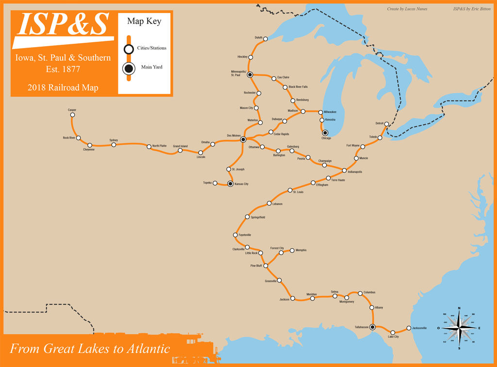 St Paul Nc Map.Iowa St Paul And Southern Map By Lucasandrades500 On Deviantart