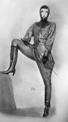 Frau in Gummi by joerggum