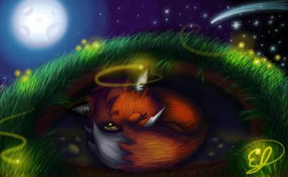 Foxy_Nighttime by easeldoodle