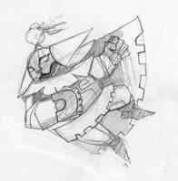 Artur - Knight Sketch by JohnPohlman