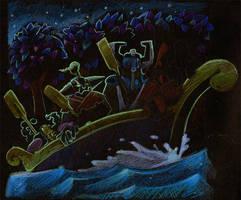 Artur - Knights in Boat WIP by JohnPohlman