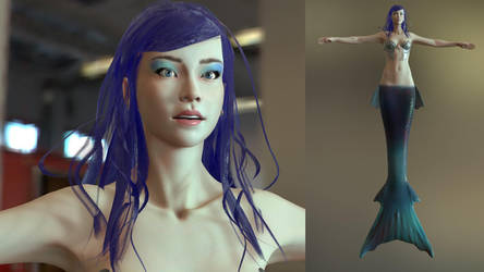 Realtime character Mermaid by Joezeta
