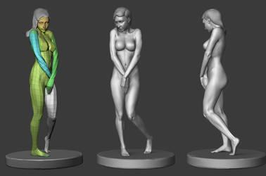 Woman sculpt by Joezeta