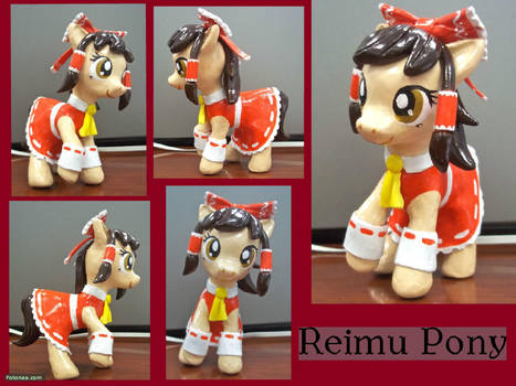 Custom Reimu Pony by CadmiumCrab