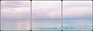 Divider 002 | Pastel Ocean + Clouds by okaynine