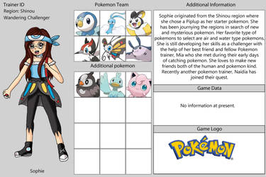 Sophies Poketrainer Card by Animecolourful