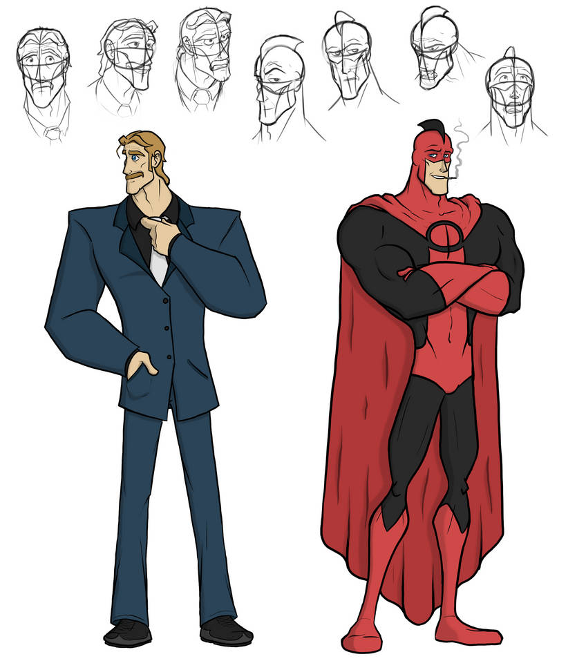 'Sidekick' - Gavin and 'Impermeable' Character Art by captainslam