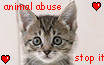 STOP ANIMAL ABUSE STAMP by rouge2t7